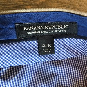 Banana Republic Pants - Men's Banana Republic Non-Iron Tailored Slim Pants